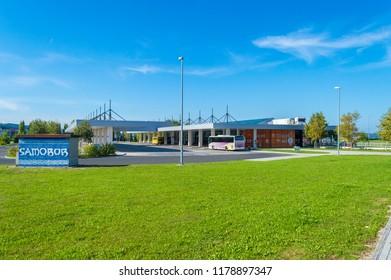 Samobor, Croatia-September 9, 2018: Samobor in Suburb of capital city Zagreb, Bus station