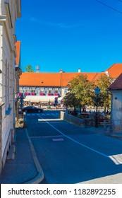 Samobor, Croatia-September 9, 2018: Samobor, town in northern Croatia