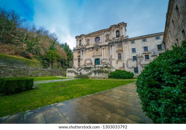 Samos Lugo Spain 01272019 Monastery St Buildings Landmarks Stock Image 1303033792
