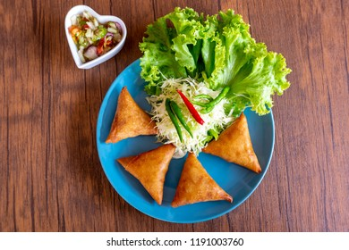 Samosa - Homemade Vegetable and cheese Samosa Halal food in Thailand