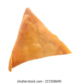 Samosa the popular snack in Asia, Asian food isolated on white background.