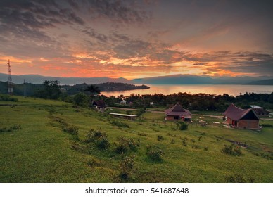 Samosir Island in Lake Toba North Sumatra Indonesia Panorama
