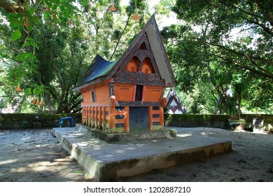 Samosir Island of North Sumatra Indonesia. Not only famous for the beauty of the Lake Tobanya, there are also many graves of old graves of kings and their followers who were in power at that time.