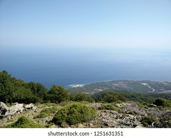 Samothrace Island sea and Saos Mountain - from 0 m to 1611 m altitude.