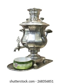 Samovar -  machine for preparing hot water. Is isolated on the white