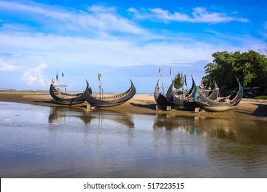 The Sampan Boats, a traditional fishing boat in Bangladesh