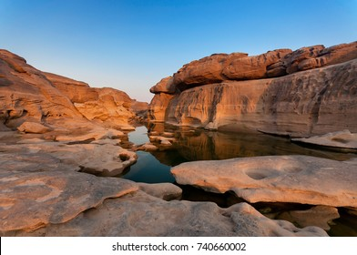 Sampanbok Ubon Ratchathani Grand Canyon in Thailand, 3000 Boke nature of rock is unseen in Thailand landscape.