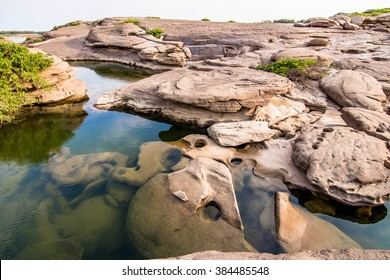 Samphanboke Ubonratchatani Grand Canyon in Thailand, 3000 Boke nature of rock is unseen in Thailand landscape.