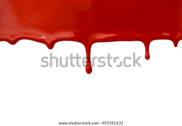 Sample color paint on a white background closeup