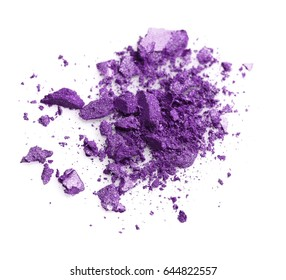 Sample of lilac eyeshadow on white background