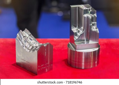 sample machining part from manufacture by cnc machining center material made from steel