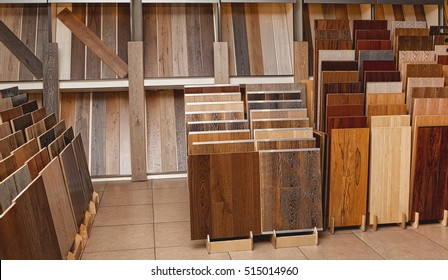 Sample Parquet Boards In Hardware Store Home Improvement Warehouse Exterior