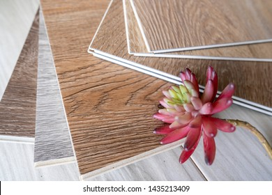 Sample stack for customer choosing for floor renovate by luxury vinyl wood plank floor tiles style