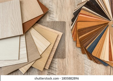Sampler material texture sor furniture design interior. Floor catalog for decoration home