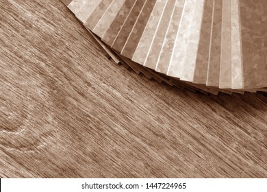 Samples of collection natural linoleum