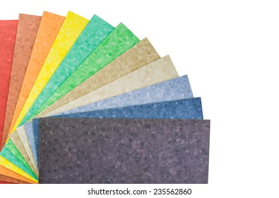 The samples of collection natural linoleum, isolated