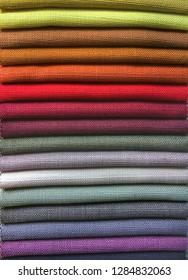 Samples of colourful fabric as a background