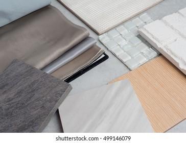 samples of material concept  interior design