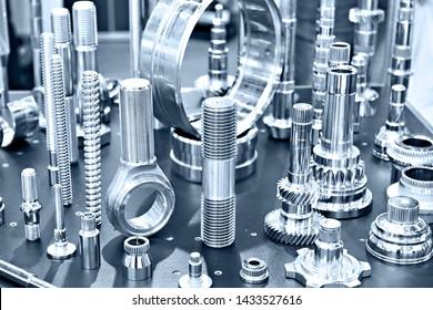 Samples of metal working parts stainless steel