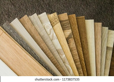 Samples of semi-commercial linoleum and household for private homes and apartments