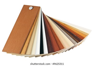 samples of wood coatings is isolated on a white background