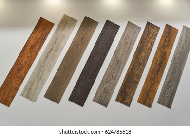 Samples of wooden floors - Shutterstock ID 624785618