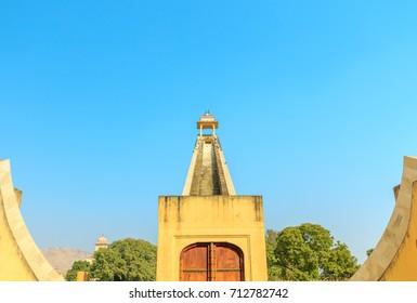 The Samrat Yantra -the world's biggest sundial, at Jantar Mantar in Jaipur, India