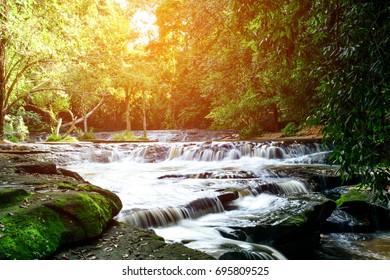 Samrongkiat Waterfall,Samrongkiat District Sisaket Province, Thailand