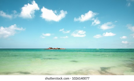Samsan Islands National Park, Thailand/Summer sea Beautiful of the white  tropical beach.Emerald green of the sea and 
