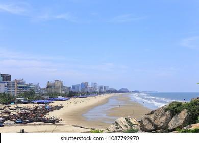 samson beach in Thanh Hoa, Vietnam