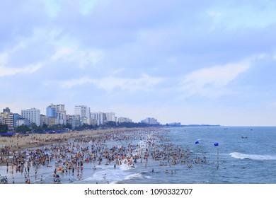 Samson beach in Thanh Hoa ,Vietnam