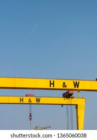 Samson and Goliath, Harland and Wolff shipyard cranes, Belfast