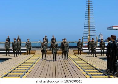 Samsun - Turkey. 19 May 2017. May 19 Ataturk's sculpture. 19 May youth and sports holiday