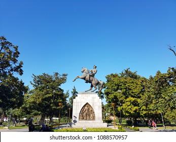 Samsun - Turkey. 19 May 2017. May 19 Ataturk's sculpture in Samsun. 19 May youth and sports holiday.