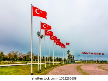 Samsun, Turkey - February 15, 2017 : Bandirma Vapuru Museum view in Samsun. Different works belonging to Atatürk are exhibited in the museum.