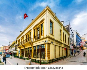 Samsun, Turkey - February 15, 2017 : Ataturk Museum view in Samsun. 114 works belonging to Atatürk are exhibited in the museum.