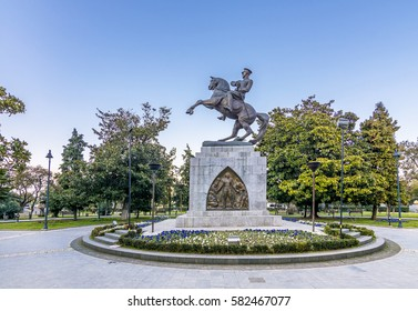 Samsun, Turkey - February 15, 2017 : Statue of Honor or Atatürk Monument is a monument situated in Samsun. dedicated to the landing of Mustafa Kemal in Samsun for the Turkish War of Independence.