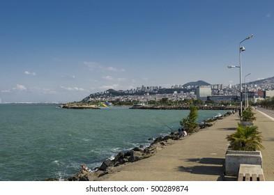 Samsun, Turkey - September 5, 2016: Scene from Samsun city harbour, Turkey