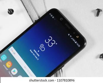 Samsung galaxy A6 launch on June 5 ,2018 Bangkok ,Thailand