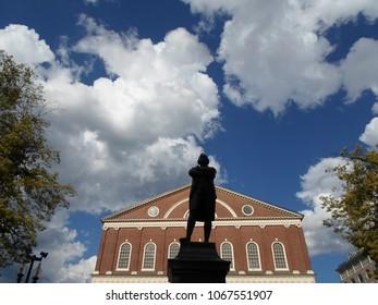 Samuel Adams statue, Faneuil Hall, Boston, Massachusetts, USA
