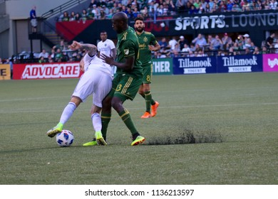 Samuel Armenteros defender for the Portland Timbers at Providence Park in Portland Oregon USA July 7,2018.