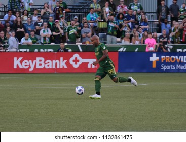 Samuel Armenteros  forward for the Portland Timbers at Providence Park in Portland Oregon USA July 7,2018.
