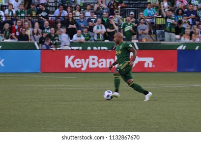 Samuel Armenteros forward for the Portland Timbers at Providence Park in Portland Oregon USA July 6,2018.