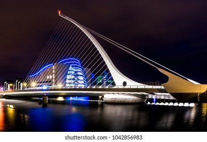 Samuel Beckett Bridge and Convention Centre, Dublin, Ireland, circa 2015
