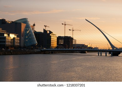 Samuel Beckett Bridge in Dublin City, Ireland