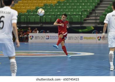 SAMUEL EKO of Indonesia during AFC U20 FUTSAL CHAMPIONSHIP 2017 final match Thailand and Indonesia at Bangkok Arena Stadium on May22,2017 in Bangkok,Thailand.