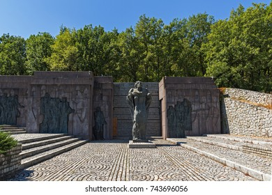 SAMUEL FORTRESS, BULGARIA- SEPTEMBER 6, 2017: Fortress of Bulgarian Tsar Samuel near village of Kliuch, Blagoevgrad region, Bulgaria