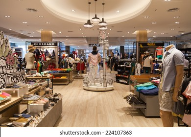 Samui, Thailand, APRIL 30, 2014. Central clothing shop inside Central Festival shopping mall on Chaweng, Bophut, Koh Samui, Thailand.
