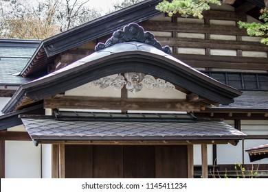 Samurai District of Kakunodate,Akita,Tohoku,Japan on April 27,2018:Beautiful art and architecture of old wooden house.