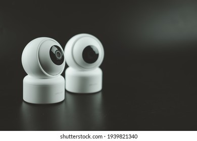Samut Prakan, Thailand - March 20, 2021 : The smart Home security camera Xiaomi Imilab C20, new product in 2021 from the Xiaomi ecosystem, can record and transmit full HD surveillance footage.